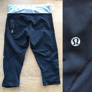Lululemon cropped leggings Capri ruffles
